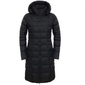 North face long down Parka detachable hood
